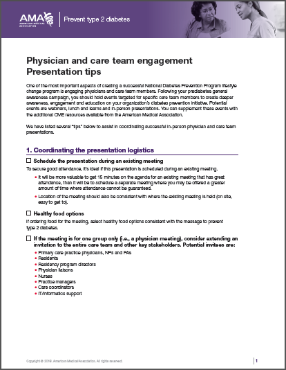 Physician and care team engagement