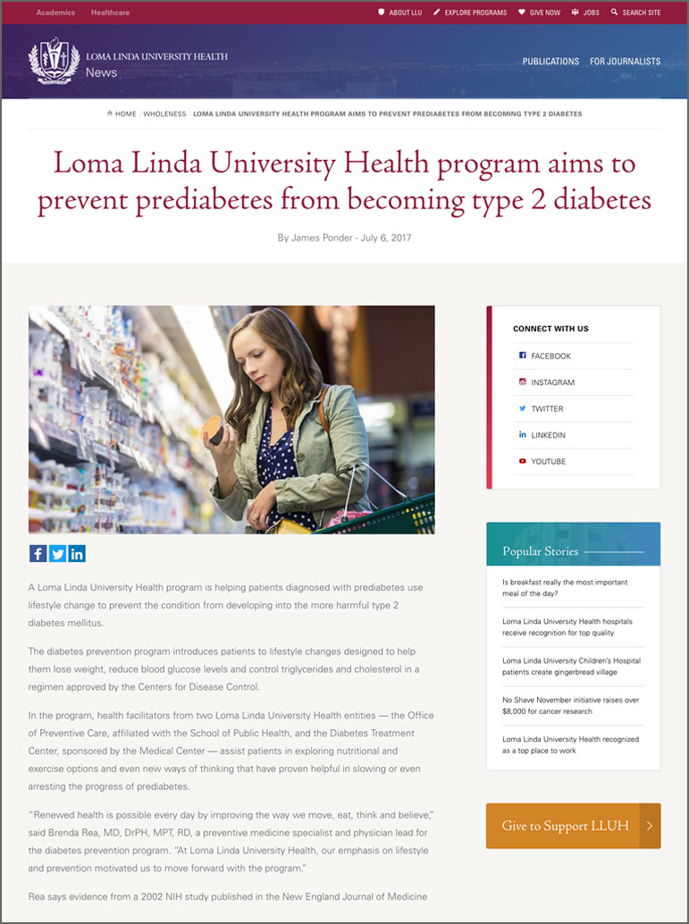 Loma Linda University Health Program